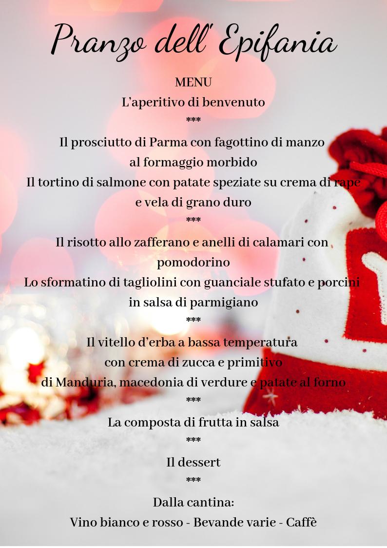 menu Epifania 2018 Cassano Murge